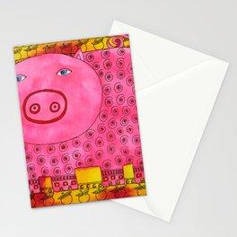Patterned Pig Stationery Cards