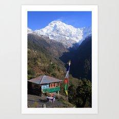 Annapurna South, Himalayas, Nepal Art Print