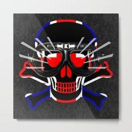 UK Skull / JP Metal Print