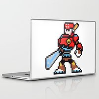 sword Laptop & iPad Skins featuring sword man by Walter Melon