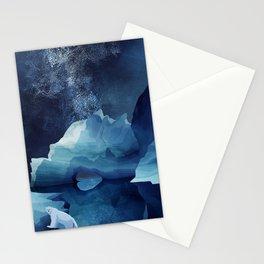 Polar Bear by night Stationery Cards