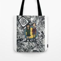 daria Tote Bags featuring It's a Sick Sad World Daria by MyOwlHasAntlers