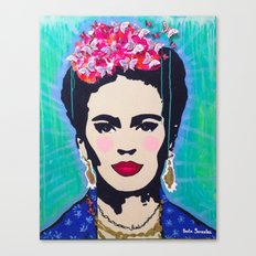 Frida Kahlo by Paola Gonzalez Canvas Print