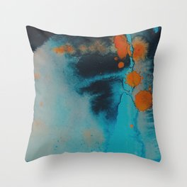 Couldn't look you in the eye Throw Pillow