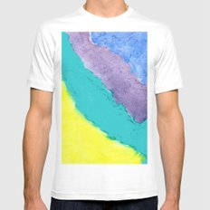 Tides Mens Fitted Tee White MEDIUM