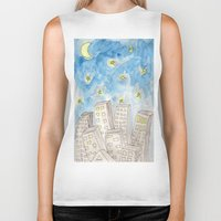 starry night Biker Tanks featuring Starry night by Susan