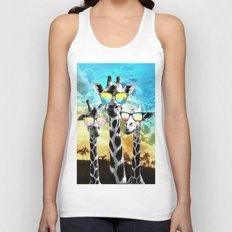 Crazy Cool Giraffe Unisex Tank Top