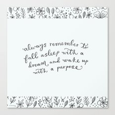 wake up with a purpose Canvas Print