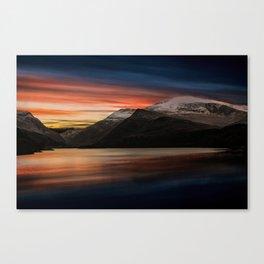 Lake Sunset Snowdonia Canvas Print