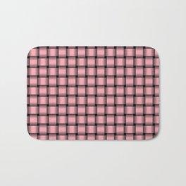Small Pink Weave Bath Mat
