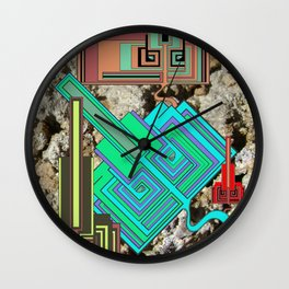 FUTURE FORMS OF EARTH (an adventure in neo-organics) Wall Clock