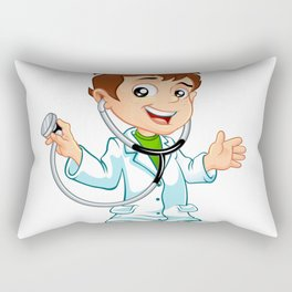 Cute little male doctor smiling Rectangular Pillow