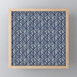 Abstract Leaf Pattern in Blue Framed Mini Art Print