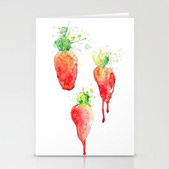 Strawberries Series - Juicy Strawbs II Stationery Cards