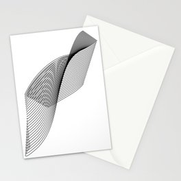 """Linear Collection"" - Minimal Letter F Print Stationery Cards"