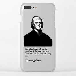 Thomas Jefferson Freedom of the Press Clear iPhone Case