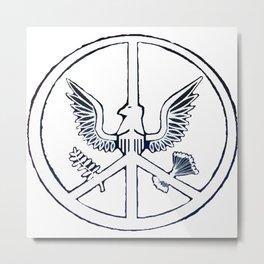 Peace Through Strength Metal Print