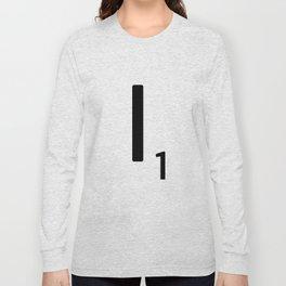 Letter I - Custom Scrabble Letter Tile Art - Scrabble I Long Sleeve T-shirt