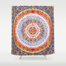 Violet Baroque Mandala Shower Curtain