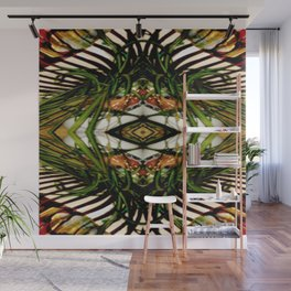 Spider Plant Genie on Green,White,Red,Black,Gold Wall Mural