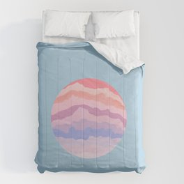 Planetary Deluge | Pastel Space-scape Comforters