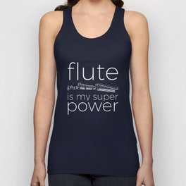 Flute is my super power (black) Unisex Tank Top