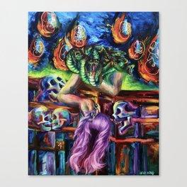 """Medusa's Grief"" Painting Canvas Print"
