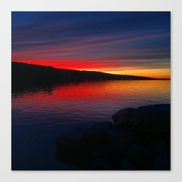 Seneca Harbor Sunset Canvas Print