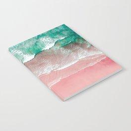Beach in Portugal, Algarve, Lagos, Beach Print, Pink Beach Print, Bondi Beach, Pink Print, Ocean Notebook