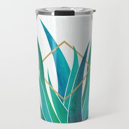 Modern Succulent - metallic accents Travel Mug