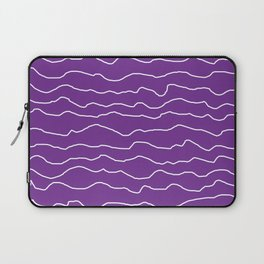 Purple with White Squiggly Lines Laptop Sleeve