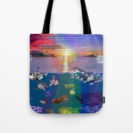...and the monstrous creatures of whales [full] Tote Bag