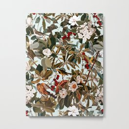 Floral and Birds XXVII Metal Print