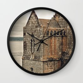 Mont St. Michel - Square Tower - Brittany France Wall Clock