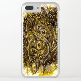 eyes and worms Clear iPhone Case