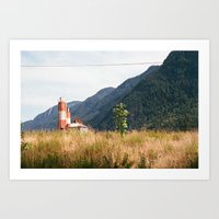 Mountain View in Hope, BC Art Print