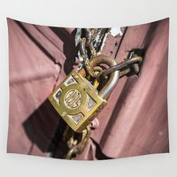doors Wall Tapestries featuring Chained doors by davehare