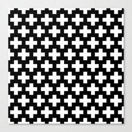 Swiss Cross W&B Canvas Print