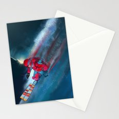 Extreme skiing illustration Stationery Cards