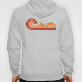 Retro Style Greensboro North Carolina Skyline Hoody