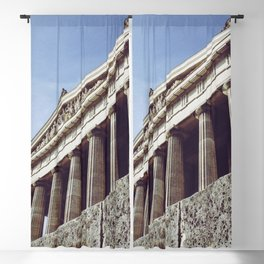 Columns structure in Parthenon Athens Greece Blackout Curtain