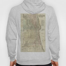 Vintage Map of Chicago (1857) Hoody