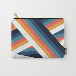 Zig Zag Retro Color Stripe Lines Carry-All Pouch