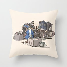 Collection of Curiosities Throw Pillow