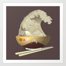 The Great Ramen Wave Art Print