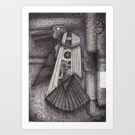 Robot bird Art Print
