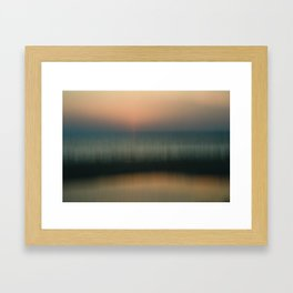 Subtle Strands of Sunset Framed Art Print