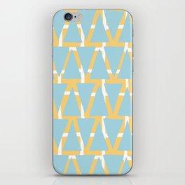 Blue and Yellow Arrowhead Print iPhone Skin