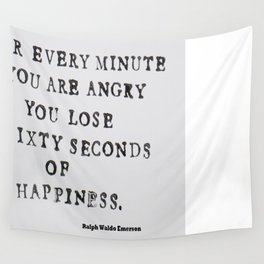 Happiness Ralph Waldo Emerson Quote Wall Tapestry