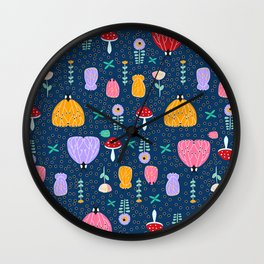 Insects at night Wall Clock